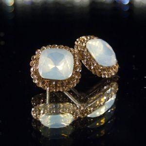 14kt Gold Dipped Swarovski Earrings